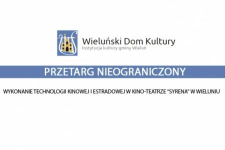 Wykonanie technologii kinowej iestradowej wkino-teatrze Syrena wWieluniu