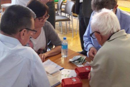 Zawody wbrydżu sportowym oPuchar Burmistrza Wielunia