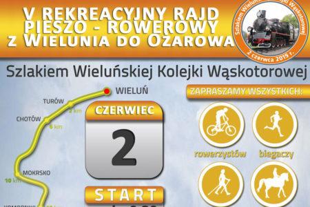 V Rekreacyjny Rajd Pieszo-Rowerowy Szlakiem Wieluńskiej Kolejki Wąskotorowej